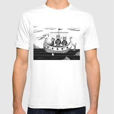 The Harpooners  Mens Fitted Tee White SMALL