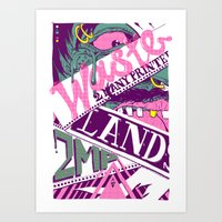 Wastelands Part 2. Art Print