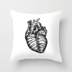 Heart gone wild Throw Pillow