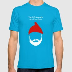 The Life Aquatic with Steve Zissou Mens Fitted Tee Teal SMALL