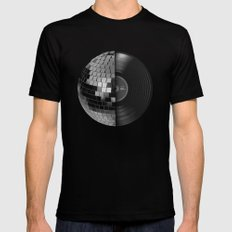 Disco Mix Mens Fitted Tee Black SMALL