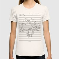 Beethoven Womens Fitted Tee Natural SMALL
