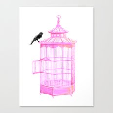 Brooke Figer - PRETTY smart BIRD Canvas Print