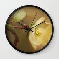 Ladybird On Flower Wall Clock