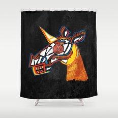 Basquiat Skull Unicorn Shower Curtain