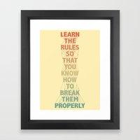 Life Lesson #5 Framed Art Print