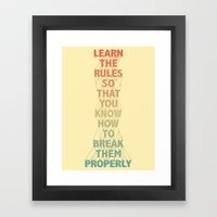 Life Lesson #5 Framed Art Print