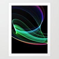 Rainbow Green Art Print