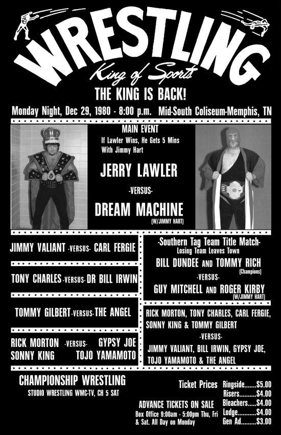#9-B Memphis Wrestling Window Card Art Print