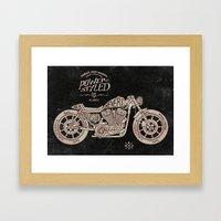 Power Styled Motorcycle Framed Art Print