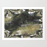 The Dunes With A Fractal… Art Print