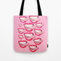 Bedazzled Tongue Tote Bag