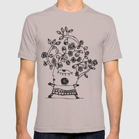 Wind leaves Mens Fitted Tee Cinder SMALL