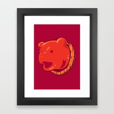 Bear prize Framed Art Print