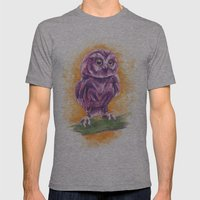 Cute Lil' Ol' Owl Mens Fitted Tee Athletic Grey SMALL