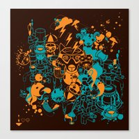 Dream Factory Orange And… Canvas Print