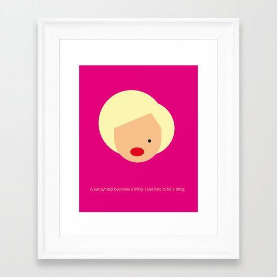 FC-Monroe Framed Art Print
