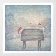 Winter Wonderland Birds  Art Print