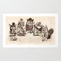 Strange Animals Art Print
