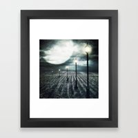 Owl Light Framed Art Print
