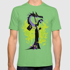 Maleficent Mistress of All Evil Mens Fitted Tee Grass SMALL