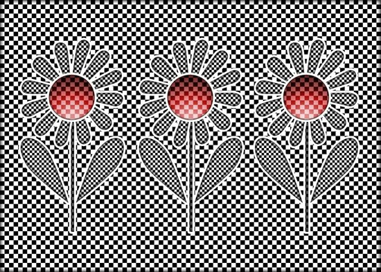 Graphic Flowers Art Print