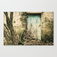 Puerta azul  Canvas Print