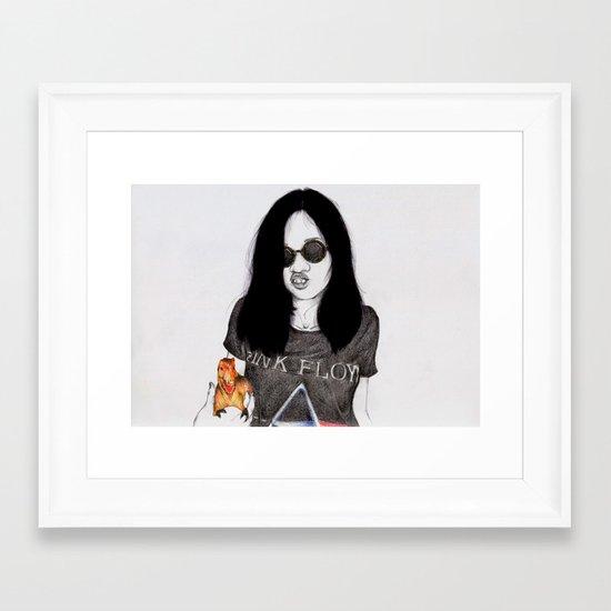 Uglysaurus Framed Art Print