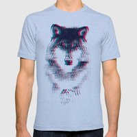 Act like a wolf.  Mens Fitted Tee Athletic Blue SMALL