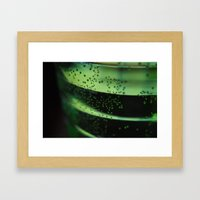 a look through the glass Framed Art Print