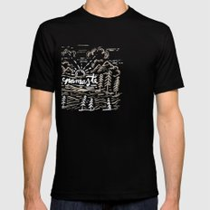 Namaste Mens Fitted Tee SMALL Black
