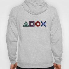 Gamer Pattern Color on Black Hoody