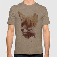 Blind Fox Mens Fitted Tee Tri-Coffee SMALL