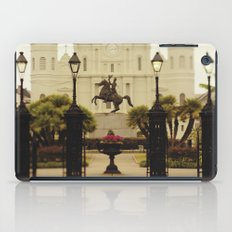 New Orleans Looking Through Jackson Square iPad Case