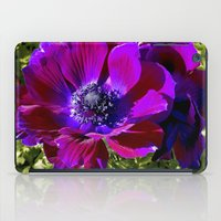 Burgundy Poppy Anemone I iPad Case
