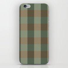 Pixel Plaid - Birch Forest iPhone & iPod Skin