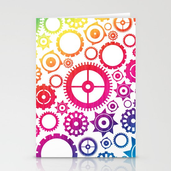 Color Cogs. Stationery Card