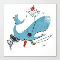 Sperm Whale Tornado Pira… Canvas Print