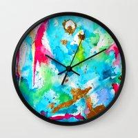Le Aqua et Passion Wall Clock