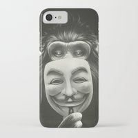 rock iPhone & iPod Cases featuring Anonymous by Dr. Lukas Brezak