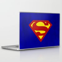 superman Laptop & iPad Skins featuring Superman by Some_Designs