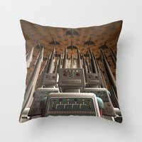 Robots Unite Throw Pillow