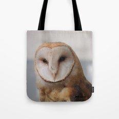 Barn Owl on Alert Tote Bag
