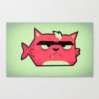 Cat-Fish Canvas Print