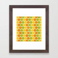 Zesty Polka Framed Art Print
