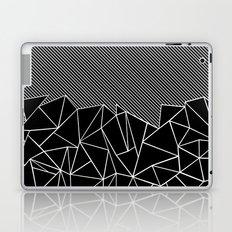 Ab Lines 45 Black Laptop & iPad Skin