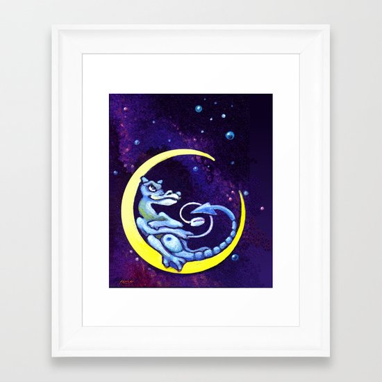 Midnight Surfer Framed Art Print