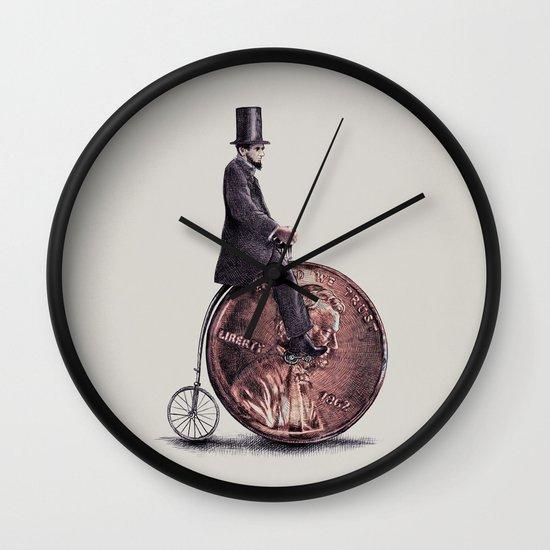 Penny Farthing (grey option) Wall Clock