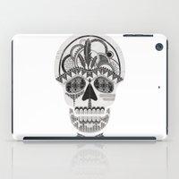 AZTEC SKULL B/W  iPad Case