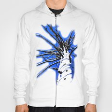 Blue Sky Old White Tree Vibrant color combo! Hoody